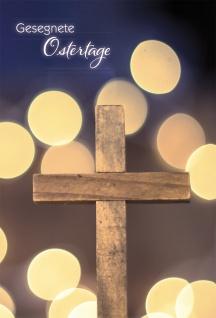 Grußkarte Gesegnete Ostertage Kreuz Psalm Lukas (6 Stück) Kuvert