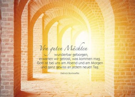Postkarte Grußkarte 10 St Adressfeld Dietrich Bonhoeffer Aufmerksamkeit Geborgen