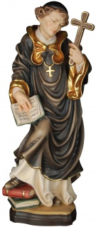 Heiliger Hieronymus mit Kreuz Holzfigur geschnitzt Südtirol Schutzpatron