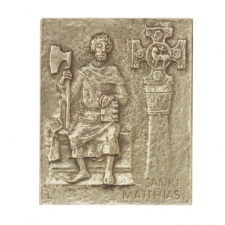 Namenstag Matthias Bronzeplakette 13 x 10 cm Namenspatron