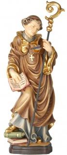 Heiliger Rudolf mit Pfeil in der Brust Holzfigur geschnitzt Südtirol