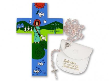 Erstkommunion Geschenk-Set Mädchen Rosenkranz Geschenk zur Kommunion