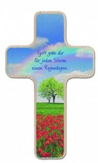 Kinderkreuz Gott gebe Dir Regenbogen 14 cm Wandkreuz Holz Kreuz Kruzifix