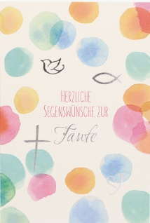 Taufkarte Herzliche Segenswünsche zur Taufe (6 Stck) Set Glückwunschkarte Kuvert