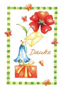 Danksagungskarte Danke Brief Paket (6 Stck) Prägung Doppelkarte Kuvert - Vorschau