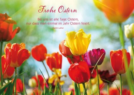 Postkarte Ostern 10 St Adressfeld Martin Luther Auferstehung Glaube Jesu Gott