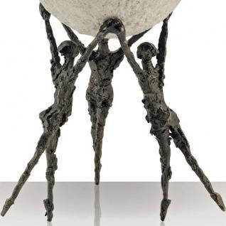 Bronzefigur Gemeinsam sind wir stark 22 cm Bronzeskulptur - Vorschau 2