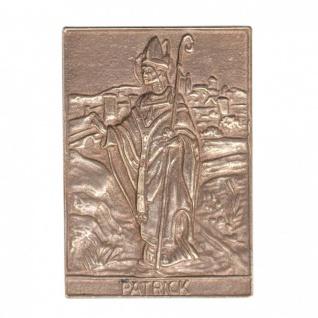 Namenstag Patrick 8 x 6 cm Geschenk Bronzerelief Wandbild Schutzpatron
