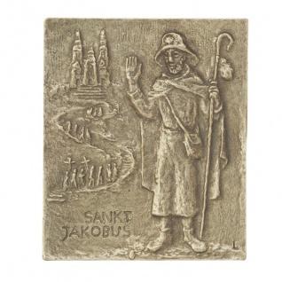 Namenstag Jakobus Bronzeplakette 13 x 10 cm Namenspatron