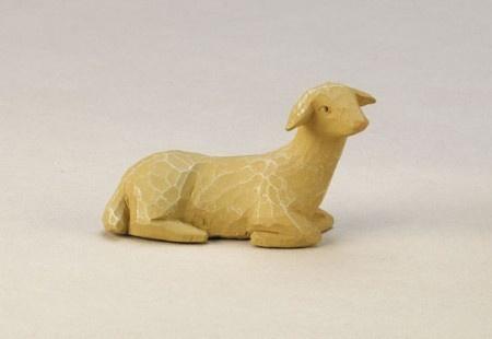 Gelenberg Krippe Schaf liegend rechtsschauend 18 cm Krippen Figur Weihnachten - Vorschau