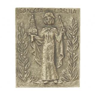 Namenstag Ursula Bronzeplakette 13 x 10 cm Bronzerelief Wandbild Schutzpatron