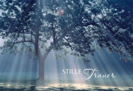 Trauerkarte Stille Trauer mit Bibelvers-Vorschlägen (6 Stück /Kuvert)