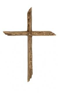 Wandkreuz 14 x 10 cm Bronze Schmuckkreuz