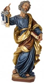 Heiliger Petrus Holzfigur geschnitzt Südtirol Schutzpatron Apostel Bischof