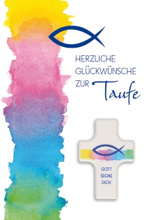 Glückwunschkarte Taufe Segenskreuz 3 St Kuvert Freude Liebe Segen Gemeinde Fest