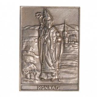 Namenstag Konrad 8 x 6 cm Bronzeplakette Bronzerelief Wandbild Schutzpatron