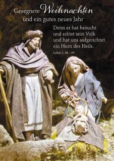 Postkarte Gesegnete Weihnachten und ein gutes neues Jahr Bibelwort (10 Stück)