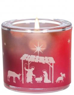 Windlicht Weihnachten Irmgard Erath Glas Teelicht Krippe Stern Stille