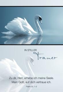 Trauerkarte In stiller Trauer Psalm 25 (6 Stck) Beileidskarten Kondolenzkarten