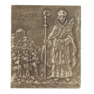 Namenstag Walter 13 x 10 cm Namenspatron Bronzerelief Wandbild Schutzpatron