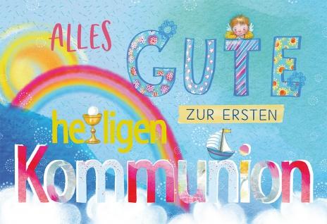 Glückwunschkarte Alles Gute zur ersten heiligen Kommunion (6 Stück) mit Kuvert