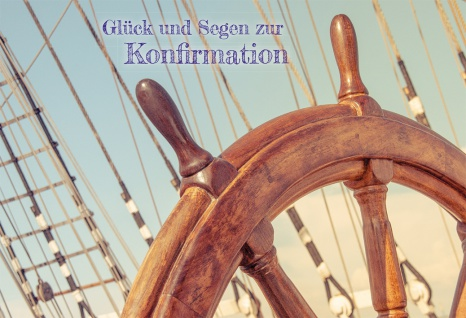 Konfirmation Grußkarte Glück und Segen zur Konfirmation (6 Stck) Bibel