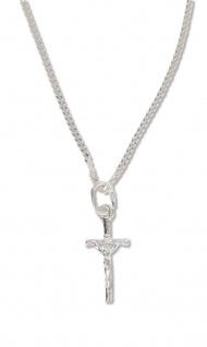 Schmuck Kreuz Anhänger Jesus Korpus 1, 8 cm Kette 50 cm Sterlingsilber Christlich