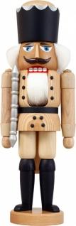 Nussknacker König natur 39 cm Holz-Figur Handarbeit aus Seiffen im Erzgebirge
