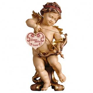Putte Amor auf Standkonsole Holzfigur geschnitzt Südtirol Puttenfigur