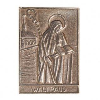 Namenstag Waltraud 8 x 6 cm Bronzeplakette Bronzerelief Wandbild Schutzpatron