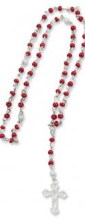 Rosenkranz Baby rot-weiß 18 cm Taufschmuck Kinder-Rosenkranz Mädchen