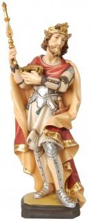 Heiliger Ludwig Holzfigur geschnitzt Schutzpatron von Berlin München