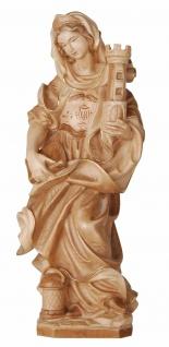 Heilige Barbara Holzfigur geschnitzt Südtirol Schutzpatronin Märtyrerin - Vorschau 2