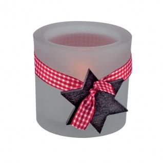 Glaswindlicht Stern inkl. Teelicht Kerzenhalter Kerzenständer Glas für Windlicht