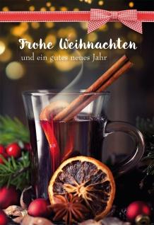 Glückwunschkarte mit Rezept Frohe Weihnachten und ein gutes neues Jahr (6 Stück)