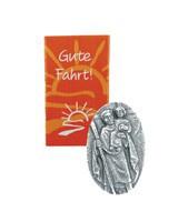 Autoplakette Christophorus Jesu 5 cm Silberbronze Christophorus Plakette - Vorschau 2