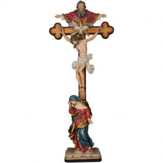 Kreuzigungsgruppe Dreifaltigkeit Holzfigur geschnitzt Südtirol