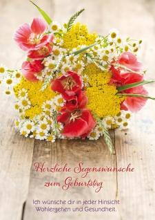 Glückwunschkarte Geburtstag 6 St Kuvert Bibelwort Johannes Segens-Wunsch Glück
