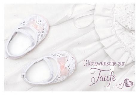 Taufkarte Glückwünsche Taufe Babyschuhe (6 Stck) Set Glückwunschkarte Tauffeier
