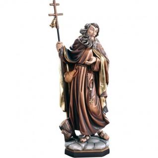 Heiliger Makarius der Ägypter Einsiedler Heiligenfigur Holz geschnitzt