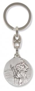 Schlüsselanhänger Christophorus Komm gut Heim 8, 5 cm Christopherus Anhänger