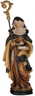 Heilige Hildegard Holzfigur geschnitzt Südtirol Schutzpatronin Klostergründerin