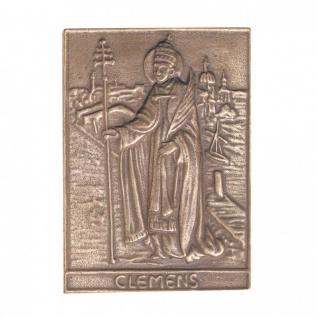 Namenstag Clemens 8 x 6 cm Bronzeplakette Bronzerelief Wandbild Schutzpatron