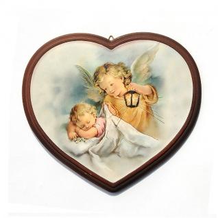 Schutzengelbild Herz Engel Baby 16 x 13 cm