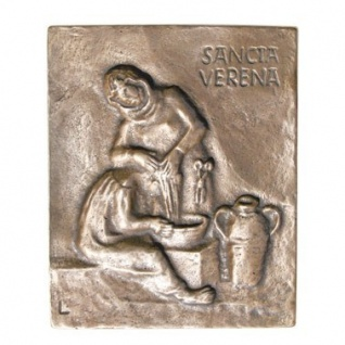 Namenstag Verena Bronze 13 x 10 cm Bronzerelief Wandbild Schutzpatron