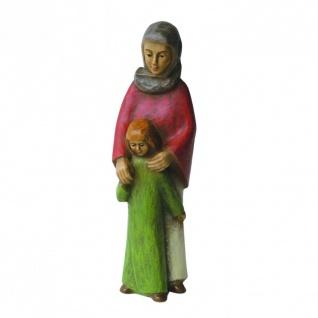 Gelenberg Krippe Hirtin mit Kind handbemalt 18 cm Krippen Figur Weihnachten - Vorschau