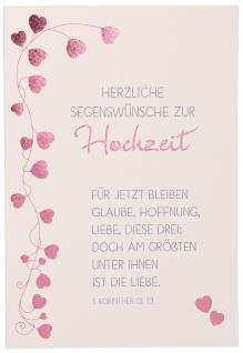Glückwunschkarte Hochzeit Glaube Hoffnung Liebe 6 St Kuvert Bibelwort Korinther