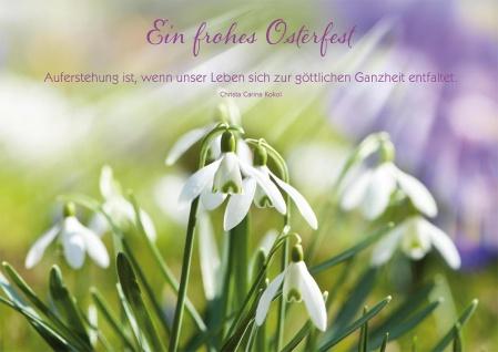 Postkarte Ostern 10 St Adressfeld Christa Carina Kokol Auferstehung Glaube Jesus