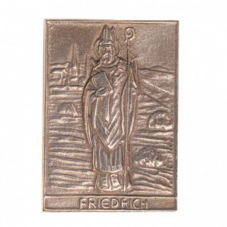 Namenstag Friedrich 8 x 6 cm Bronzeplakette Namenstag Geschenk