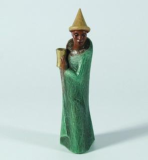 Gelenberg Krippe König Mohr bunt bemalt 18 cm Krippen Figur Weihnachten